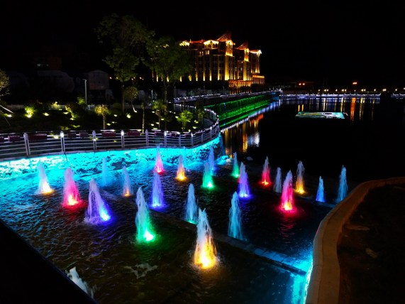 Baoji Colorful Fountains at Night Shaanxi 1