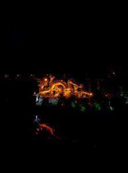 Baoji Colorful Golden Dragon at Night Shaanxi 1