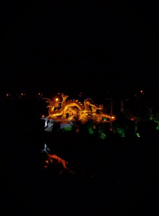 Baoji Colorful Golden Dragon at Night Shaanxi 1