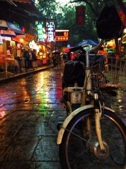 Bike in Xian Muslim Quarter Street Market 1