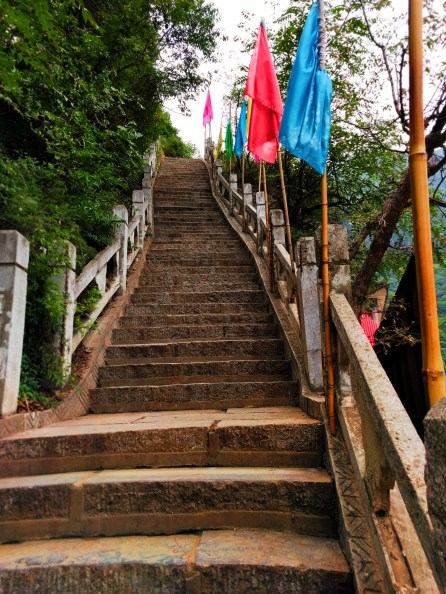 Colorful Flag Staircase Old Town Baoji at Taibai Mountain 1