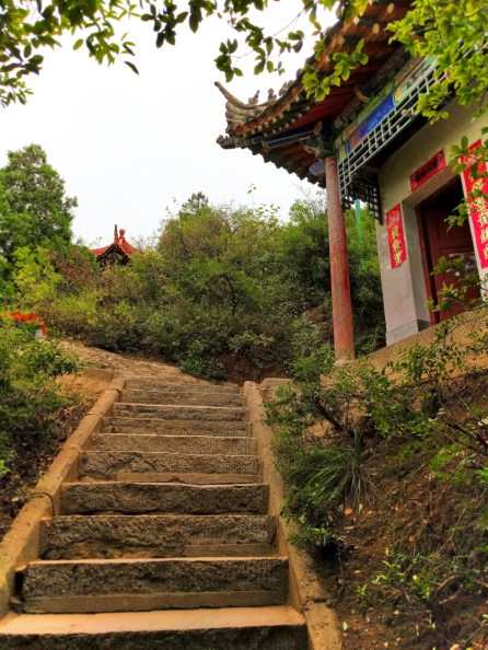 Colorful Flag Staircase Old Town Baoji at Taibai Mountain 2