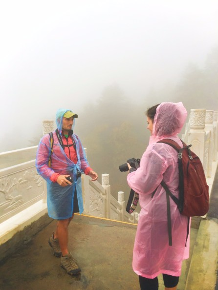 Rob Taylor in the Freezing Fog at Taibai Mountain National Park Shaanxi 2