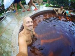 Rob Taylor in wine bath at Taibai Mountain Hot Springs Resort Baoji 1