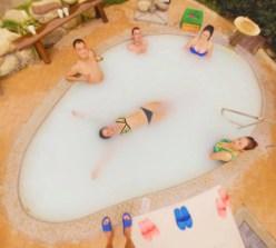 Sarah Coffe with Slice of Life in Coconut Milik Bath Taibai Mountain Hot Springs 1
