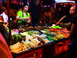 Street Food vendor at night in Xian China 1
