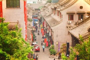 View from biking on top of Xian City Wall 1