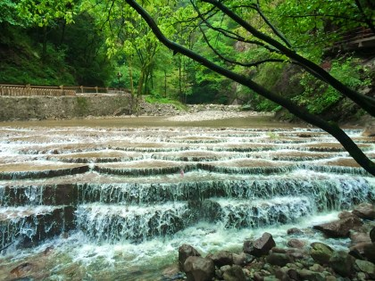 Waterfall River at Taibai Mountain National Park Shaanxi 1