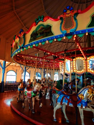 Carousel Horses at Santa Monicas ferris of wheel 2