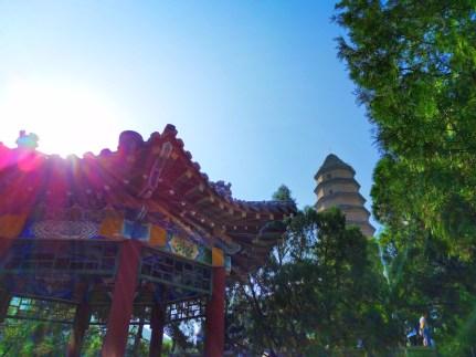 Colorful Chinese Gazebo at Baota Pagoda Yanan Shaanxi 5