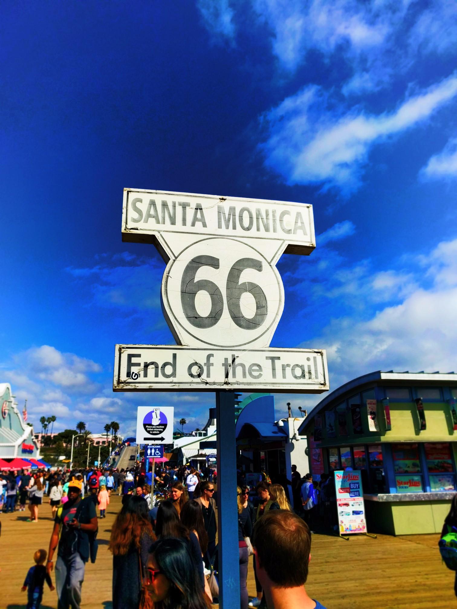 End of Route 66 Sign Santa Monica Pier 2