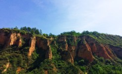 Eroded Hill sides outside Yanan Shaanxi 1