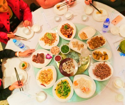 Full Chinese Lunch in Yanan Shaanxi 1