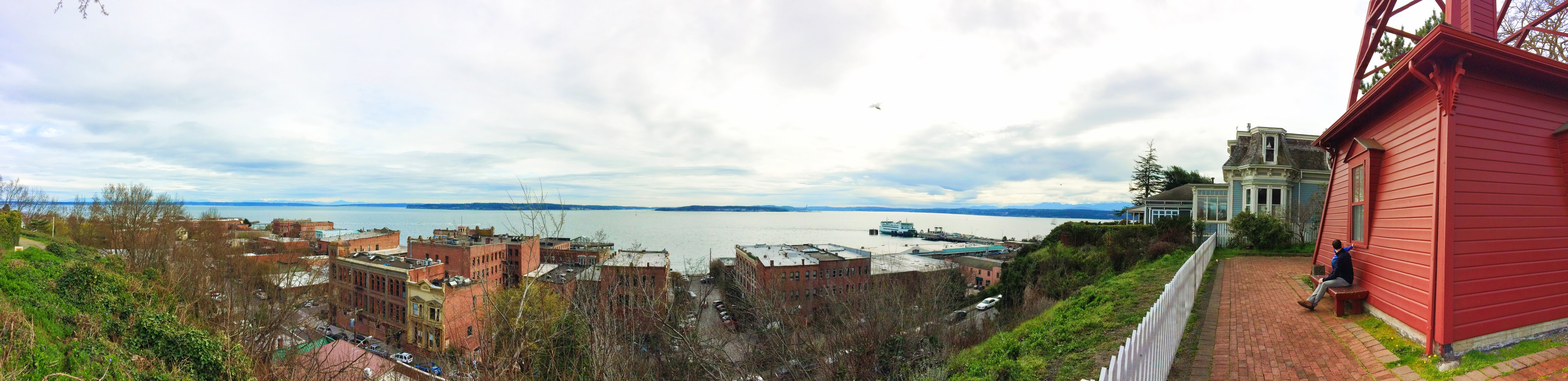 Panoramic View of Port Townsend from Uptown Belltower 1