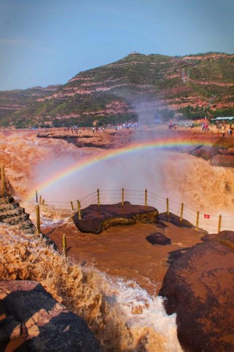 Rainbow at Hukou Falls National Park Shaanxi Province 4