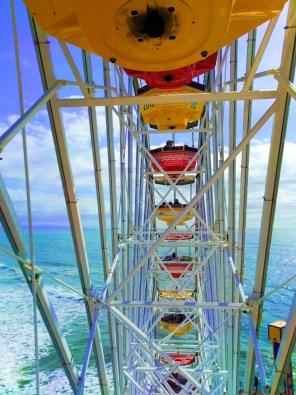 Riding on Ferris Wheel on Santa Monica Pier 2 V