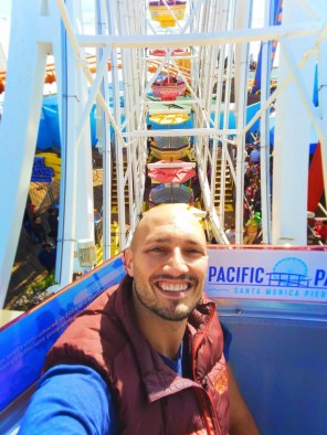 Rob Taylor Riding on Ferris Wheel on Santa Monica Pier 1 V