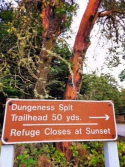 Trailhead sign Dungeness Spit National Wildlife Refuge Sequim 1