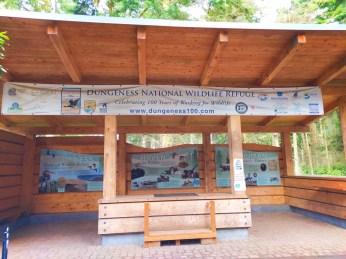 Trailhead sign Dungeness Spit National Wildlife Refuge Sequim 2