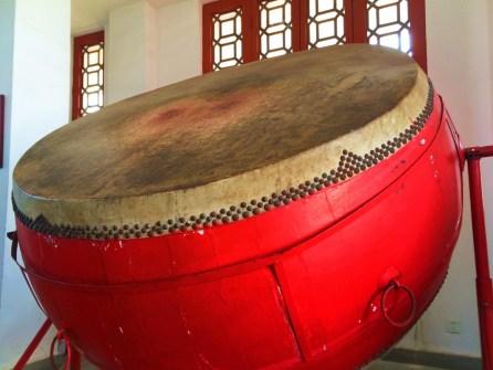 Watchtower Drumtower Drum at Baota Pagoda Yanan Shaanxi 1