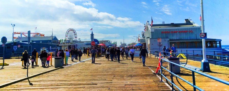 Wide Angle of Santa Monica Pier 1