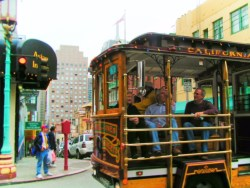Cable Car in San Francisco Chinatown 1