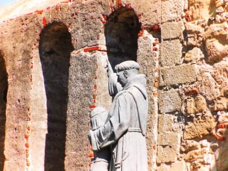 Friar statue at Mission San Juan Capistrano 1