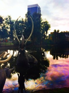 LaBrea Tarpits Sculpture in Large Pond Los Angeles 2