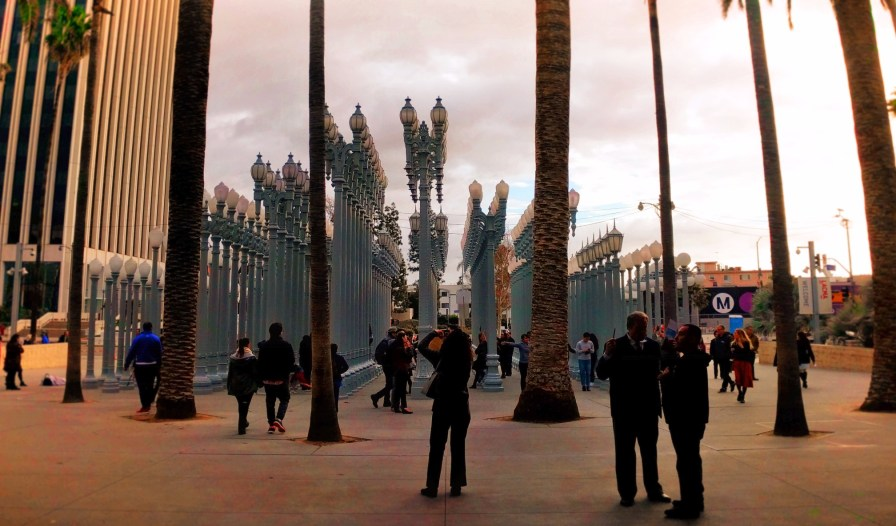Outdoor Lamp Post Installation at LACMA Los Angeles 2