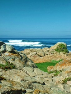 Pebble Beach Golf Course from 17 Mile Drive Carmel Coast 1