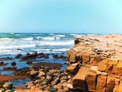 Rocky beach at San Simeon California Coast road trip 1