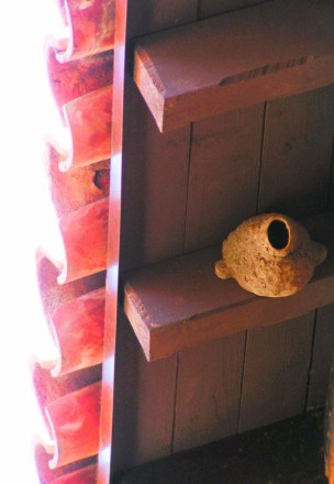 Swallow nest at Mission San Juan Capistrano 1