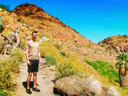 Chris Taylor hiking at Indian Canyons at Agua Caliente Palm Springs 5