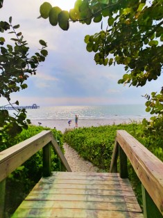 Naples Beach boardwalk entrance 1