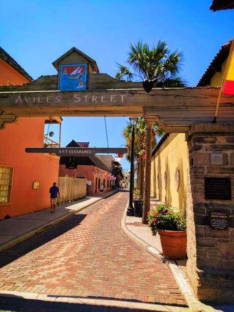 Oldest street in Florida Avilas Street St Augustine 1