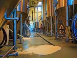 Spilling beer at pFriem Brewing Hood River 1