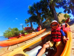 Taylor Family at Ripple Effect Ecotours kayaking Marineland Florida 6