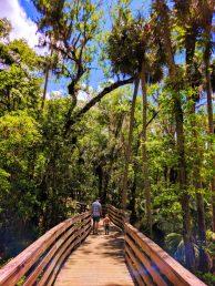 Taylor Family hiking at Blue Spring State Park Daytona Beach 2