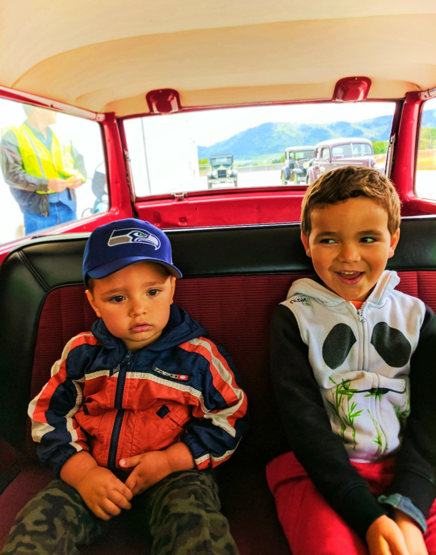 Taylor Family in Vintage car at WAAAM Hood River 2