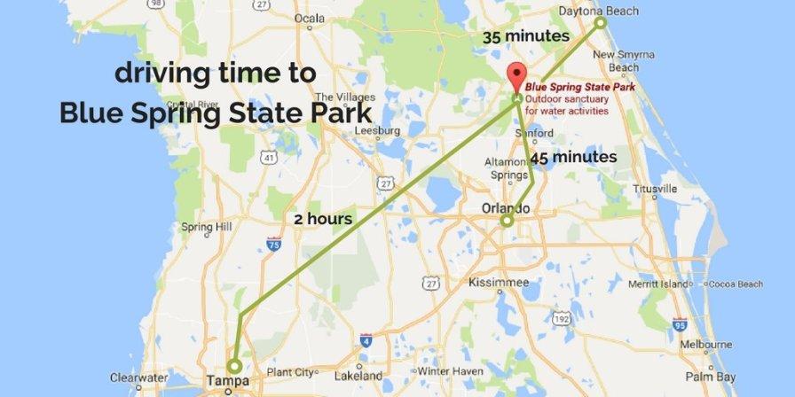 Blue Spring State Park Map