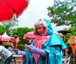 Fairy Godmother at Plaza Inn Character Dining Main Street USA Disneyland 1