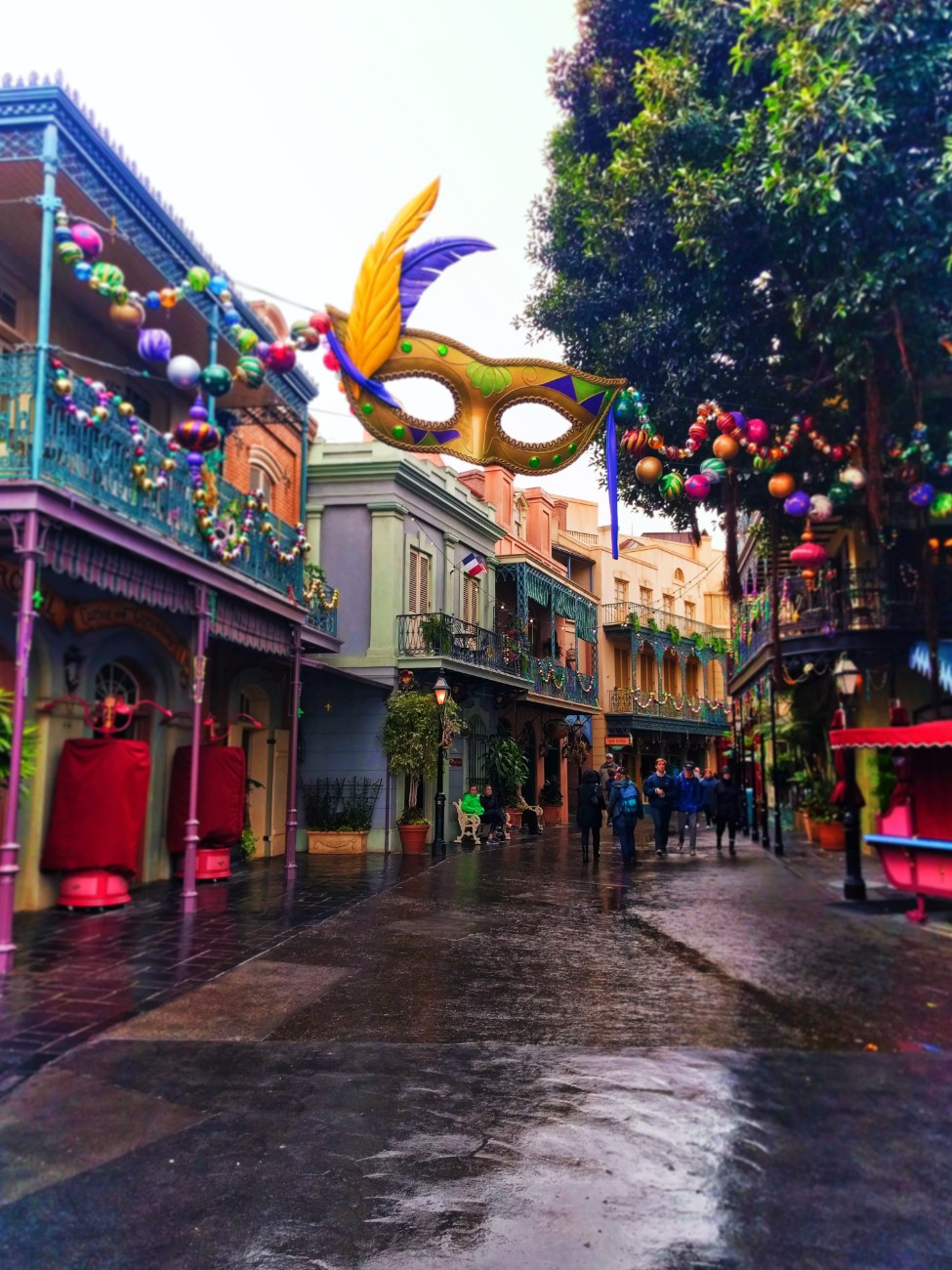 Mardi Gras Decorations in New Orleans Square Disneyland 2