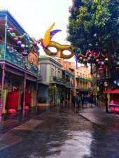 Mardi Gras Decorations in New Orleans Square Disneyland 2
