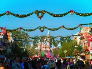 Sleeping Beauty Castle at Christmas Disneyland 1