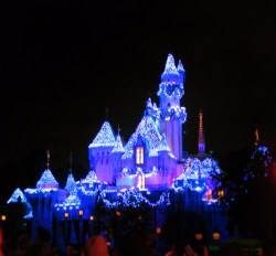 Sleeping Beauty Castle at Night Christmas Disneyland 2