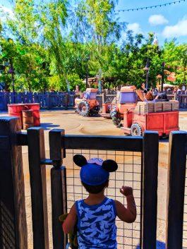 Taylor Family at Maters Junkyard Jamboree Cars Land Disneys California Adventure 1