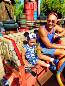 Taylor Family at Maters Junkyard Jamboree Cars Land Disneys California Adventure 3
