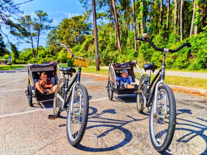 Taylor Family biking by the Beach Jekyll Island Golden Isles 13