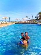 Taylor Family in pool at Holiday Inn Resort Jekyll Island Golden Isles Georgia 1