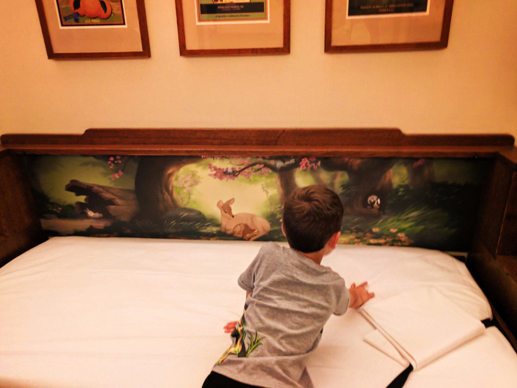 Taylor Family using pullout bed in Disneys Grand Californian Hotel Disneyland 1